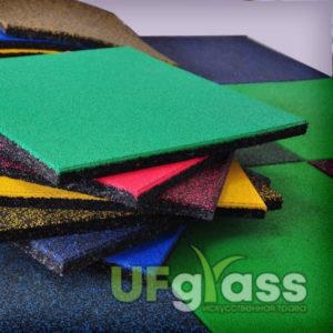 Резиновая плитка для детской площадки 500х500х20 мм